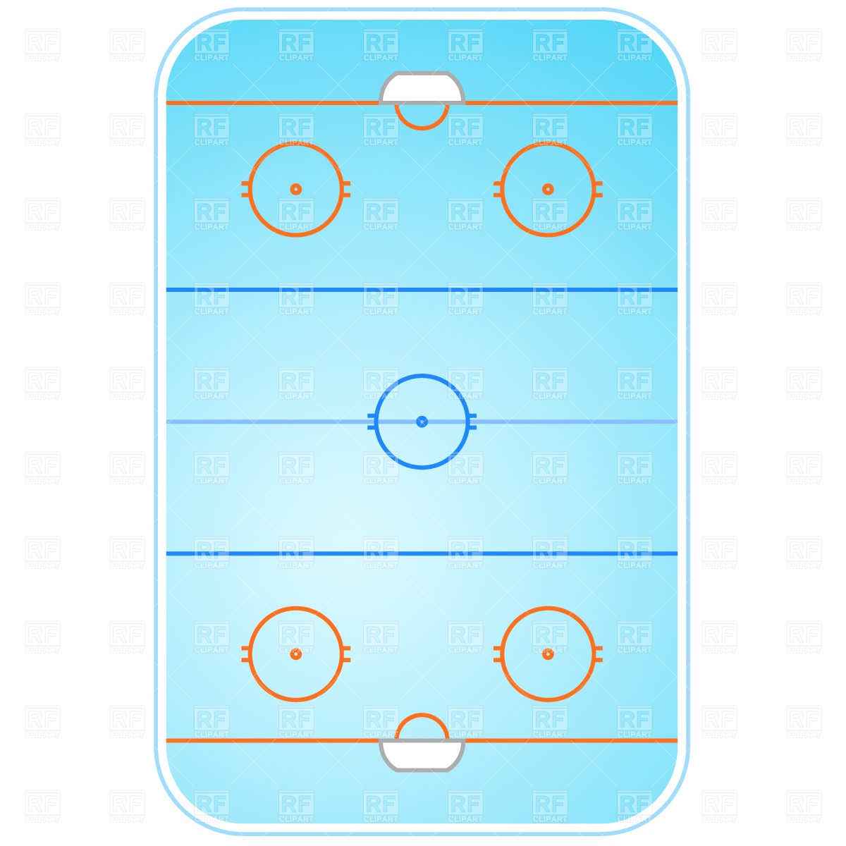 Ice Hockey Rink Layout 809 Sport And Leisure Download Royalty Free