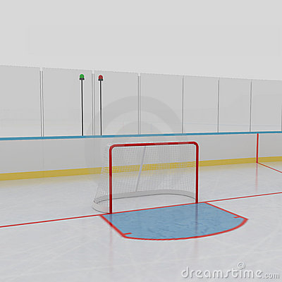 Ice Hockey Rink Stock Photo   Image  22336550
