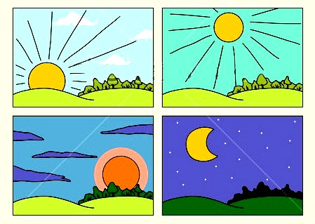 Clip Art Morning Clipart morning and night clipart kid parts of the day afternoon evening night