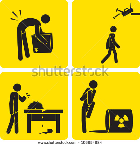 Various Work Related Injuries  Shutterstock  Eps Vector   Clip Art