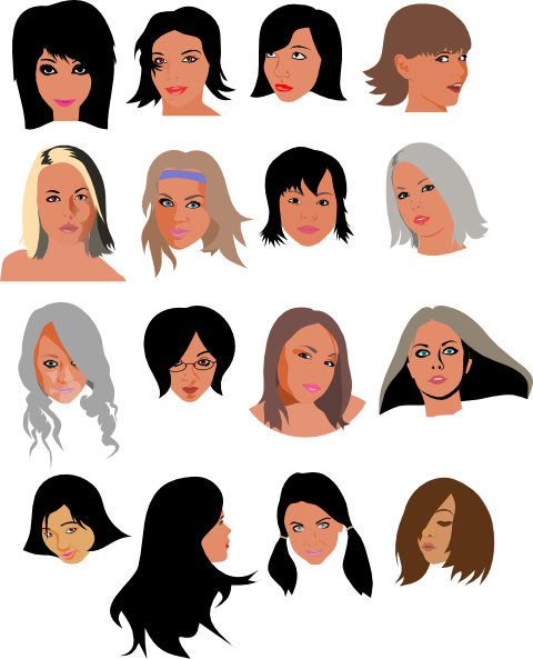 Women Faces Clipart Pic  13