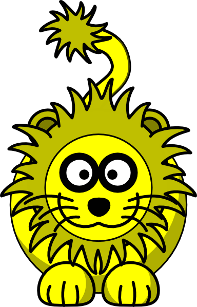 Yellow Lion Clipart - Clipart Kid