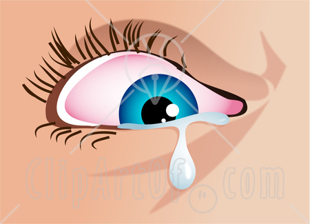 35827 Clipart Illustration Of A Blue Womans Eye Shedding A Tear Jpg