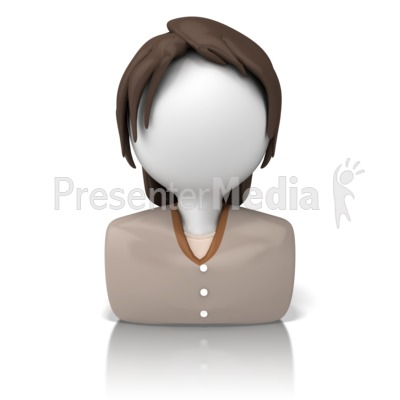 Casual Woman Icon   Presentation Clipart   Great Clipart For