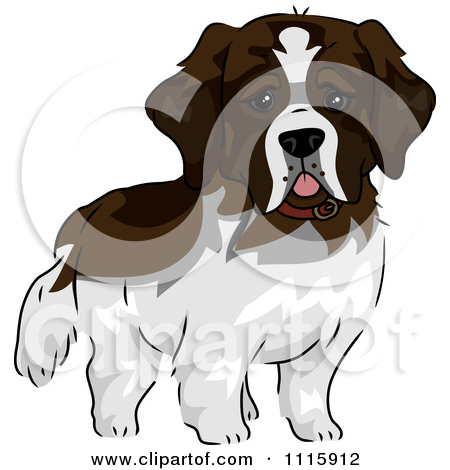 Clipart Of A Boston Terrier And Dog Dessed In Clothes   Royalty Free