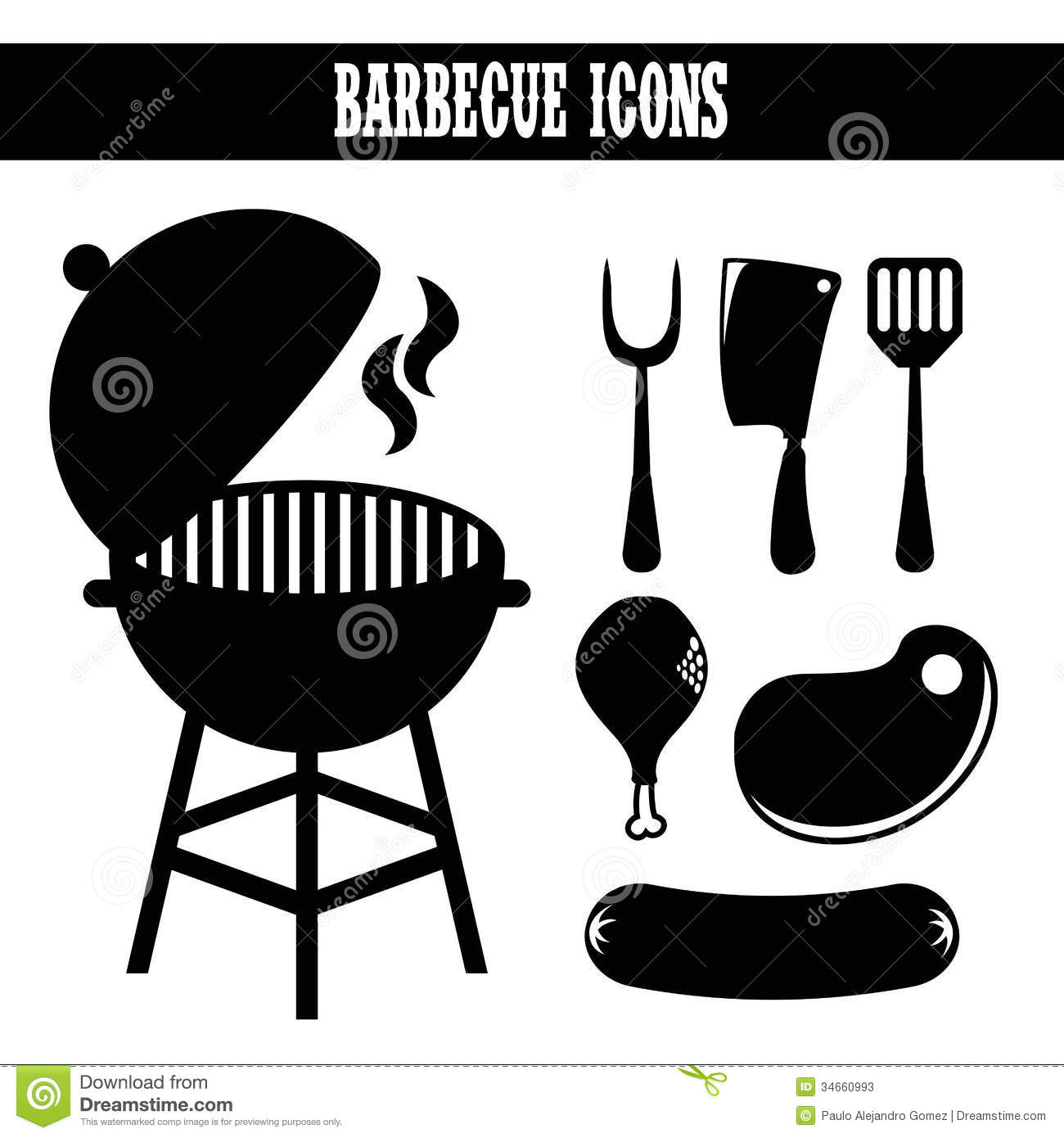 bbq silhouette clipart clipart suggest
