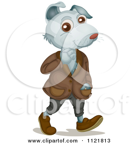 Dog In Clothes Clipart Happy Dog Wearing Clothes And