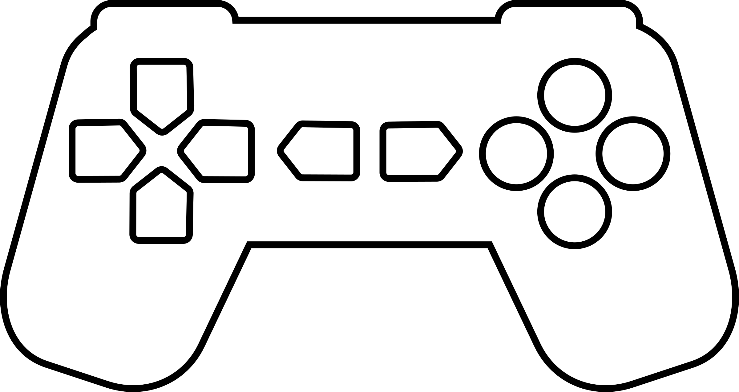 Game Controller Outline White By Qubodup
