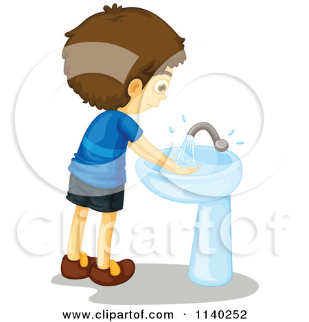 Kid Washing Hands Clip Art Kids Cleaning Bathroom
