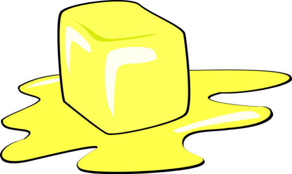 Melting Ice Cube   Vector Clip Art
