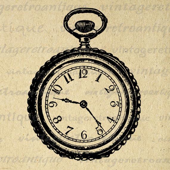 pocket watch clipart - photo #44