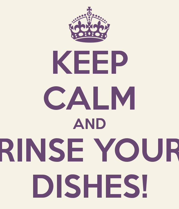 Rinse Dishes And Rinse Your Dishes