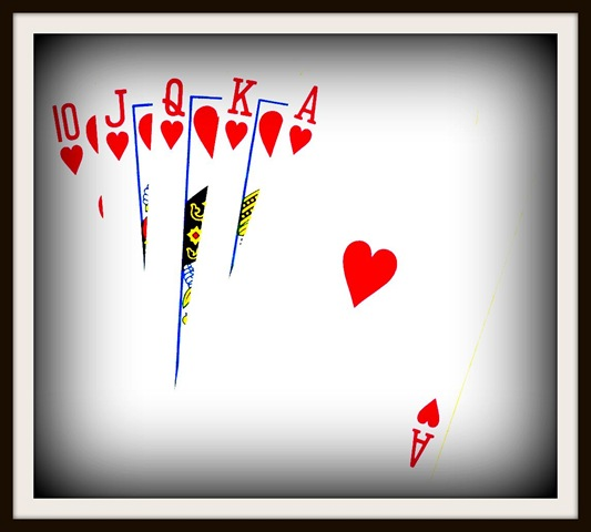 Royal Flush Boost Vignette Framed Clipart