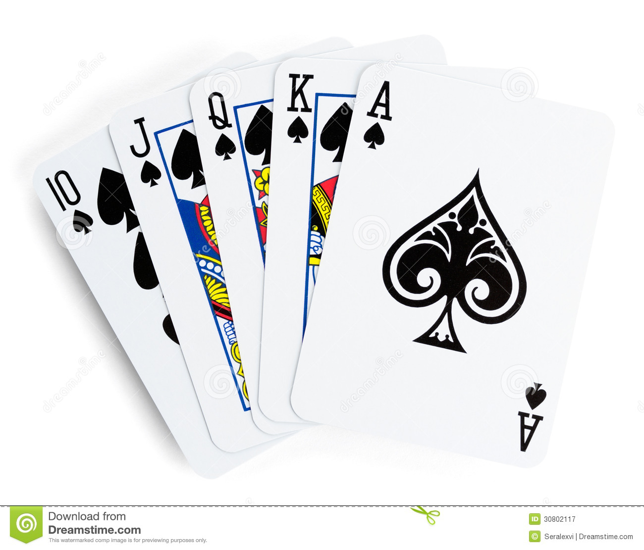 Royal Flush Playing Cards Royalty Free Stock Photography   Image