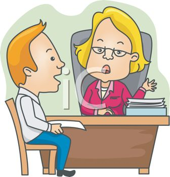 Royalty Free Clip Art Image  Cartoon Of A Man In A Job Interview