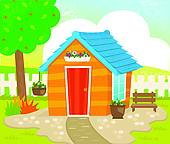 Shed Clip Art Royalty Free  1338 Shed Clipart Vector Eps