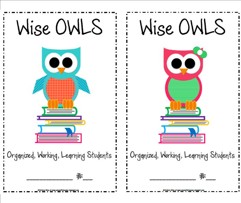 The Wise   Witty Teacher  Wise Owls Folders
