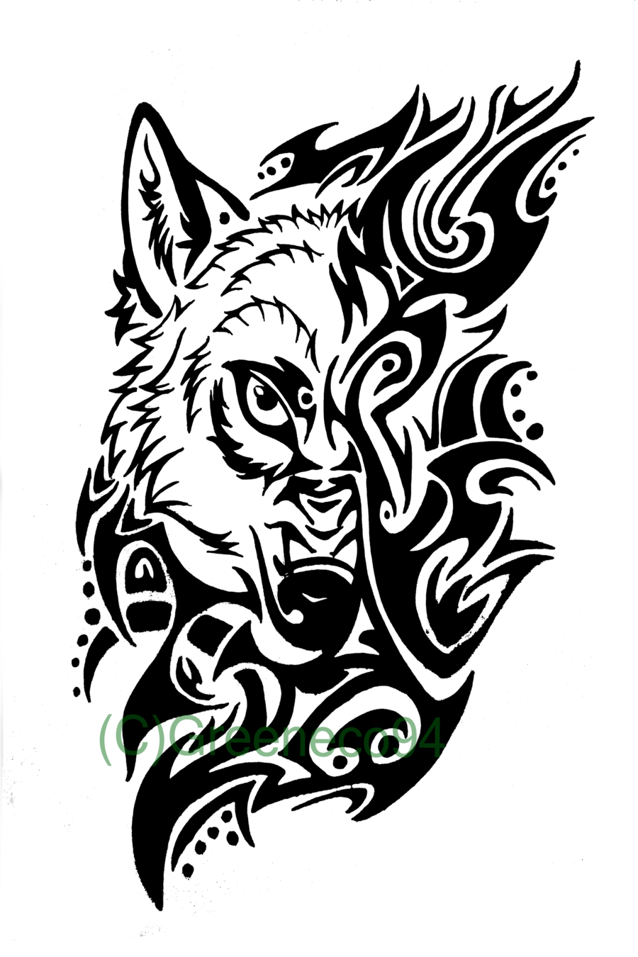 Tribal Wolf Clipart - Clipart Kid
