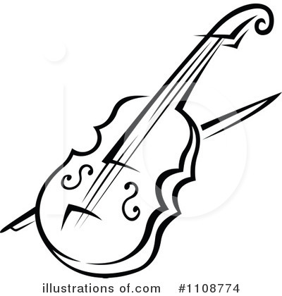 Violin Clipart  1108774   Illustration By Seamartini Graphics
