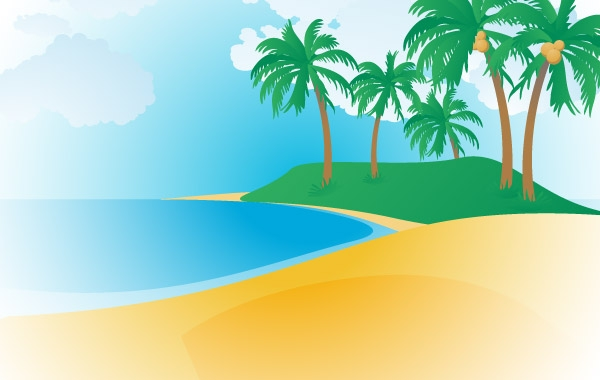 148 Tropical Beach Clip Arts Free Clip Art   Clipartlogo Com