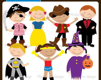 Boys Dress Up Clothes Clipart Costume Party Clipart Instant