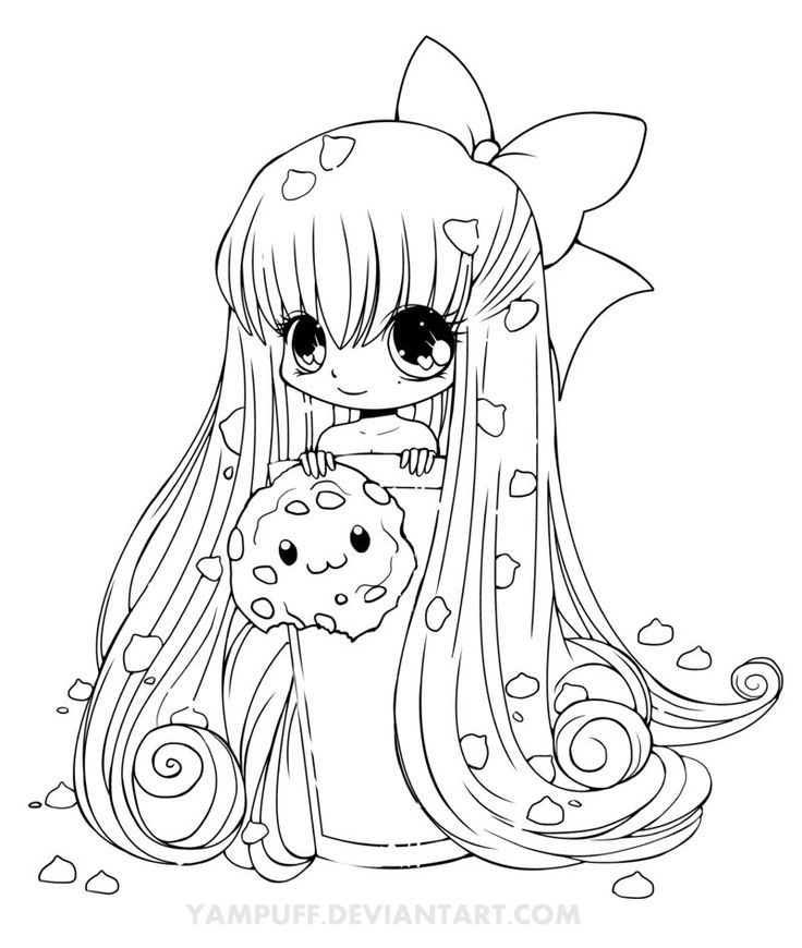 Chibi Coloring Pages   Cute Anime Chibi Coloring Pages   Coloring