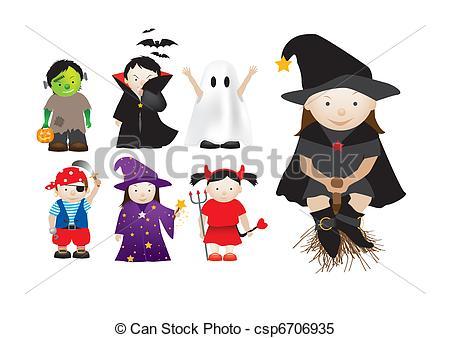 Childrens Vestindo Cima Fantasia Vestido Partidos Dia Das Bruxas