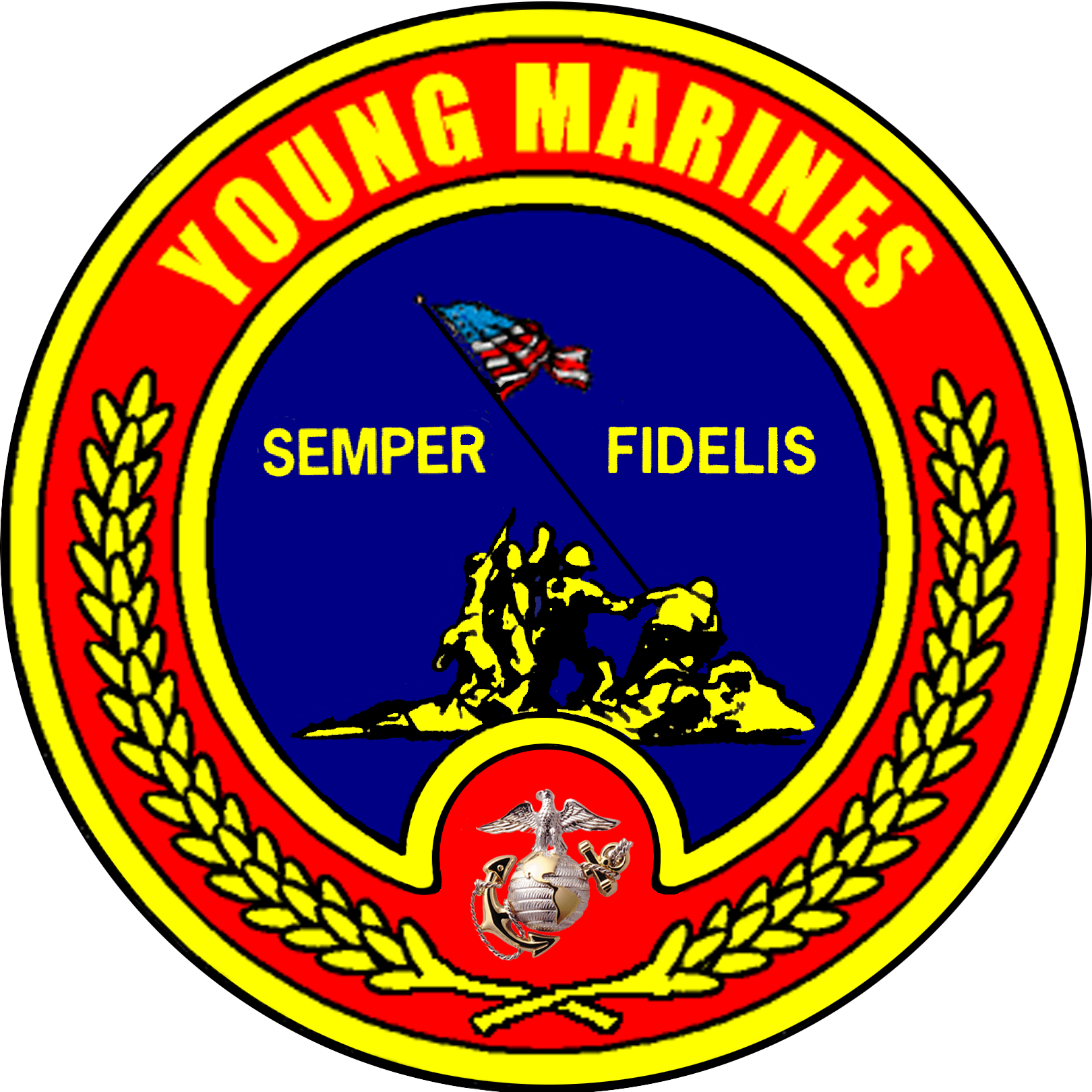 Description Usmc   Young Marines Logo Png
