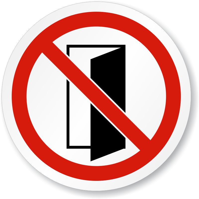 Do Not Close Open Door Symbol Iso Prohibition Sign Sku  Is 1286