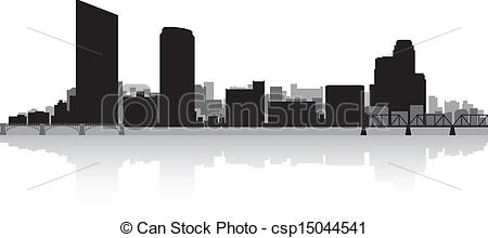 Eps Vector Of Grand Rapids City Skyline Silhouette   Grand Rapids Usa