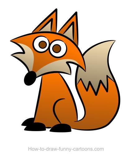 cartoon clipart of a fox - photo #19