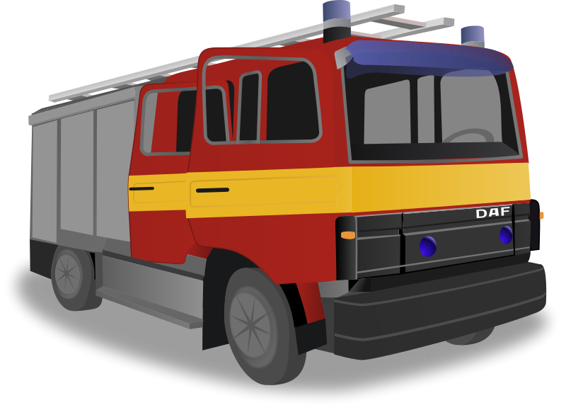 Free Large Fire Truck Clip Art