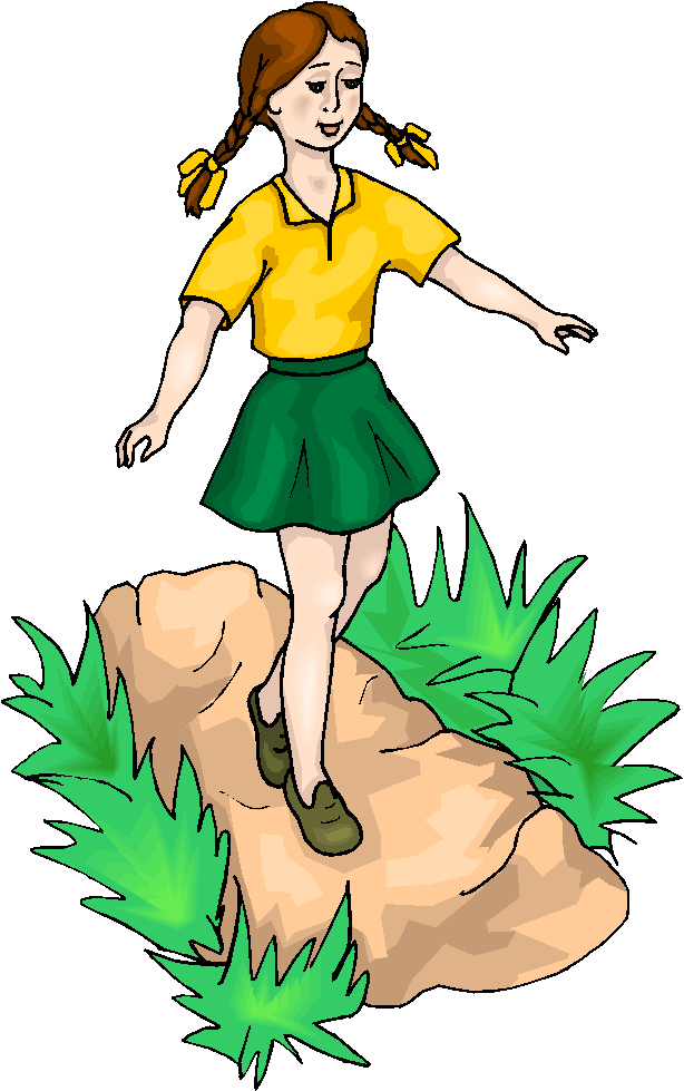 Girl Walking Clipart - Clipart Kid