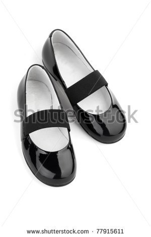 Girls Shoes Clipart Black And White Black Shine Leather Girl Shoes
