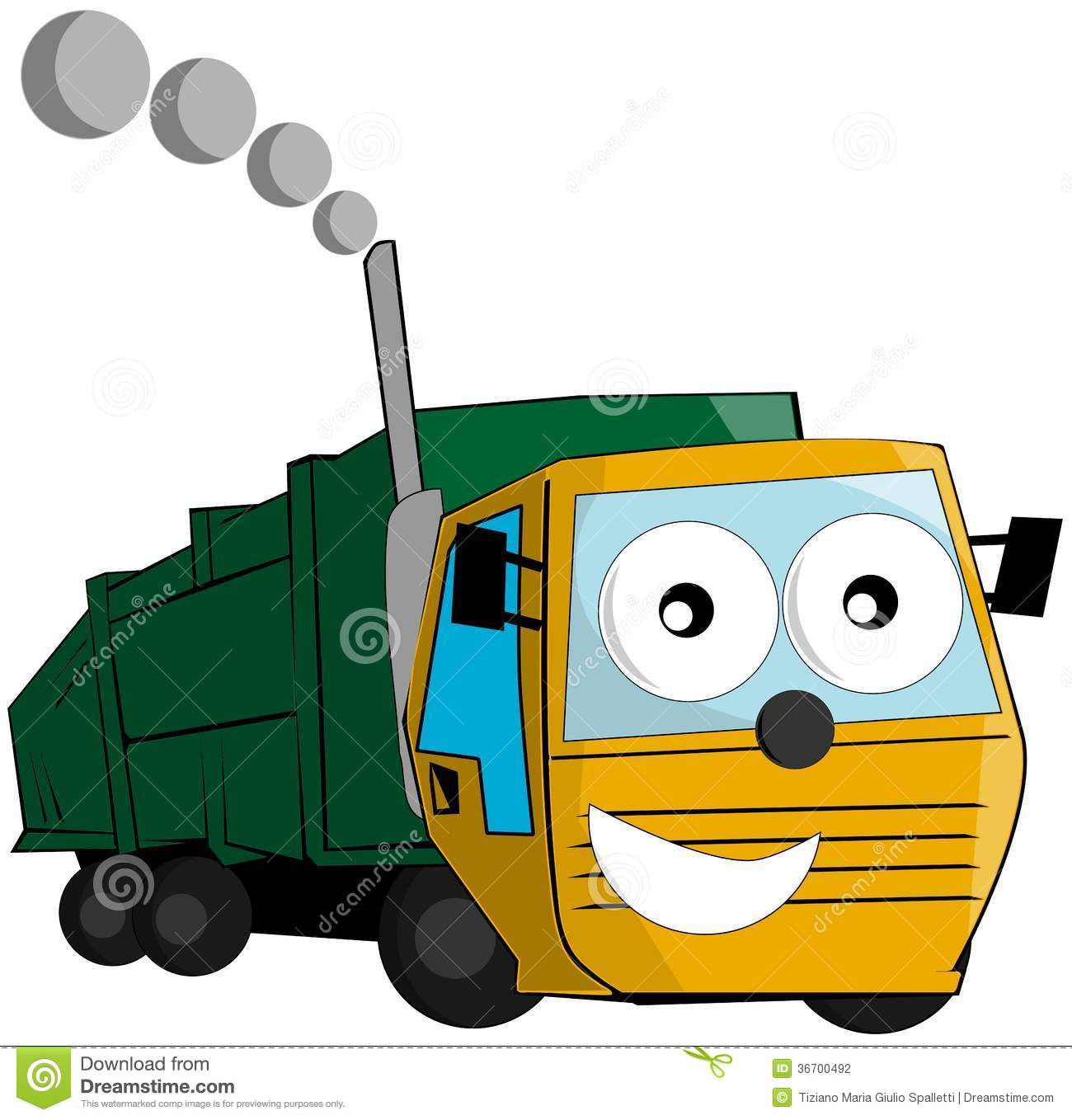 Nice Garbage Truck Cartoon Isolated Stock Photography   Image