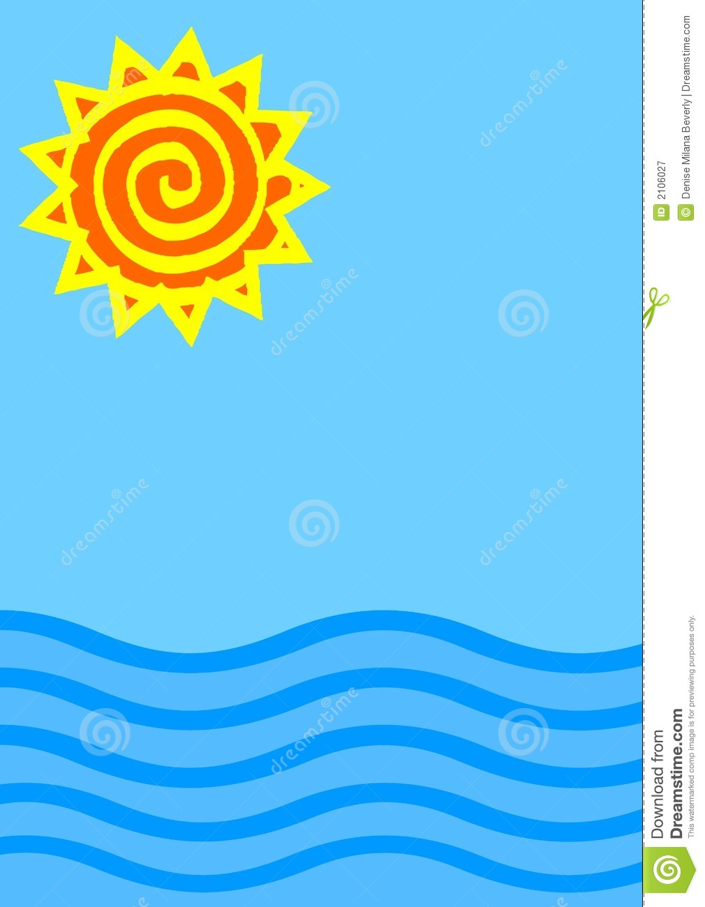Sea And Sun Clipart - Clipart Kid
