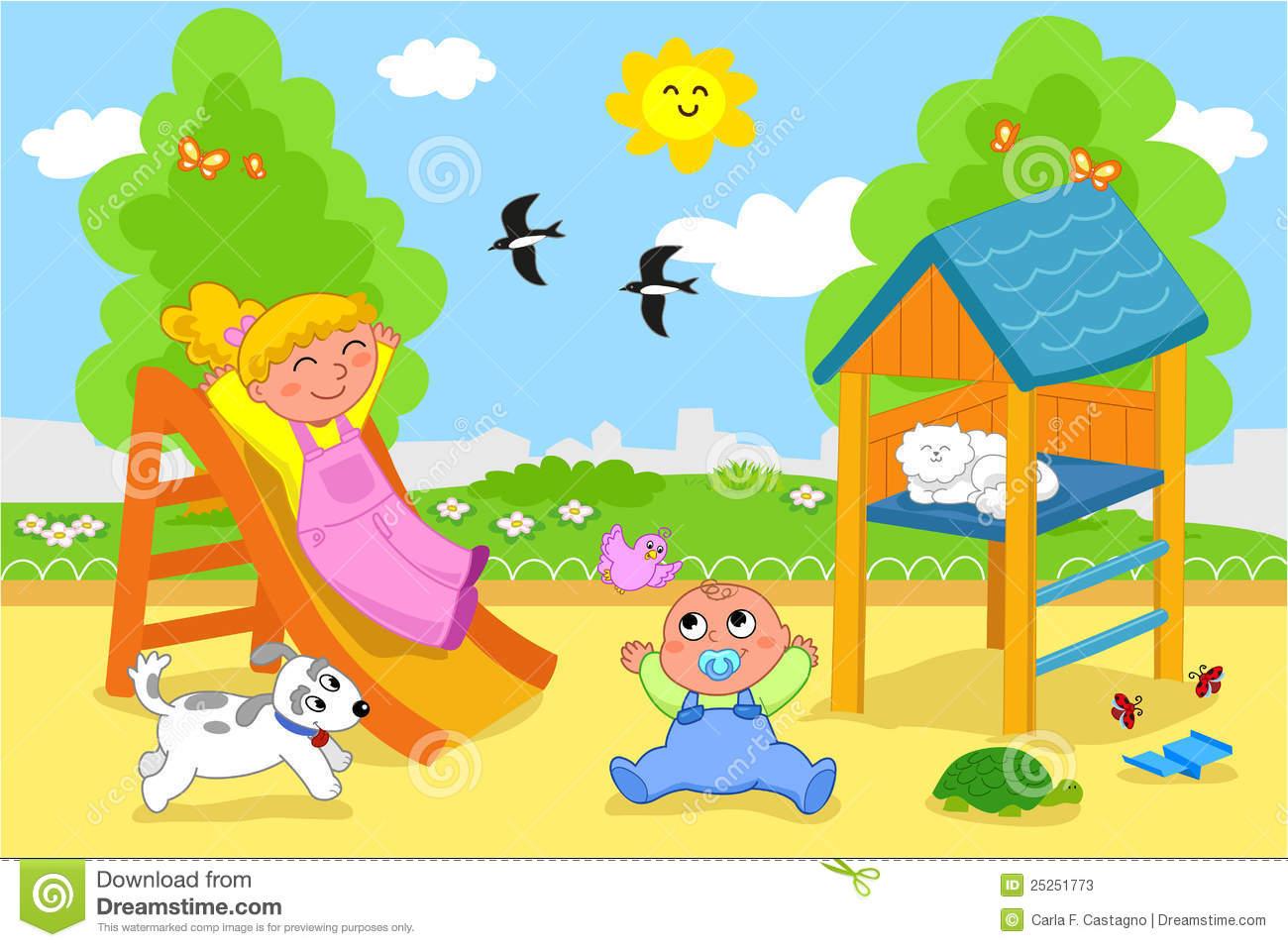 Playground Cute Clipart - Clipart Kid