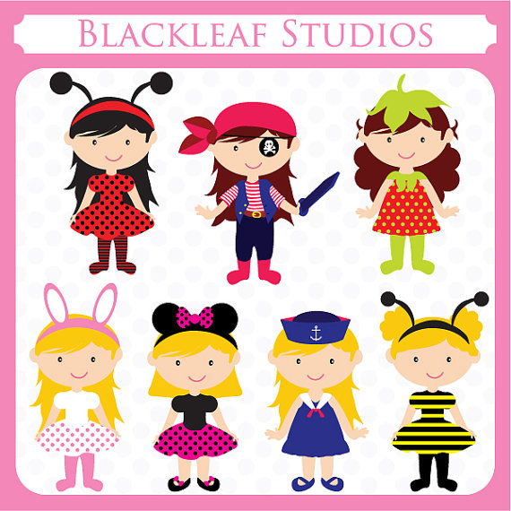 Party   Fancy Dress Theme Dress Up Party Theme Costume Clipart