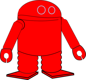 Red Robot Clip Art At Clker Com   Vector Clip Art Online Royalty Free