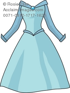 Royalty Free Clipart Illustration Of A Fancy Blue Dress   Acclaim