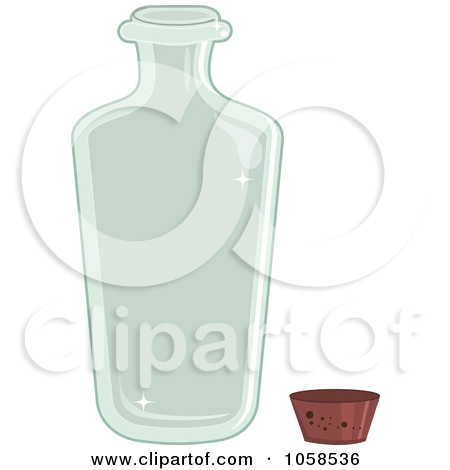 Royalty Free Vector Clip Art Illustration Of A Clear Glass Bottle And