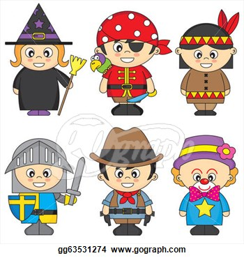Stock Illustrations   Children Dressed  Stock Clipart Gg63531274