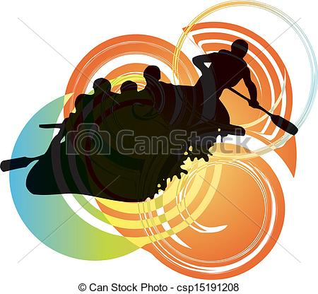 Vector Clipart Of Rafting On The Rapids Csp15191208   Search Clip Art