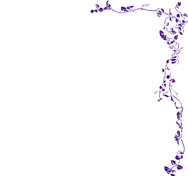 Vine border purple clip art at clker com vector clip art online