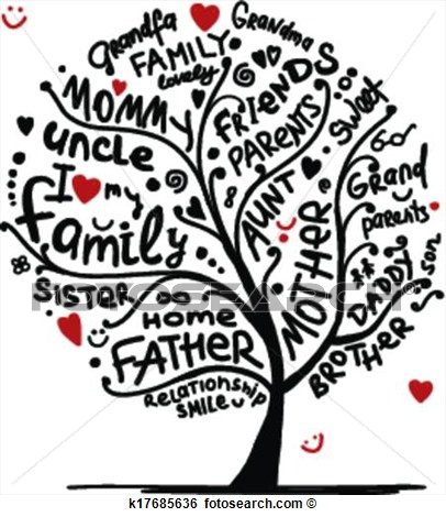 Art   Family Tree Sketch For Your Design  Fotosearch   Search Clipart