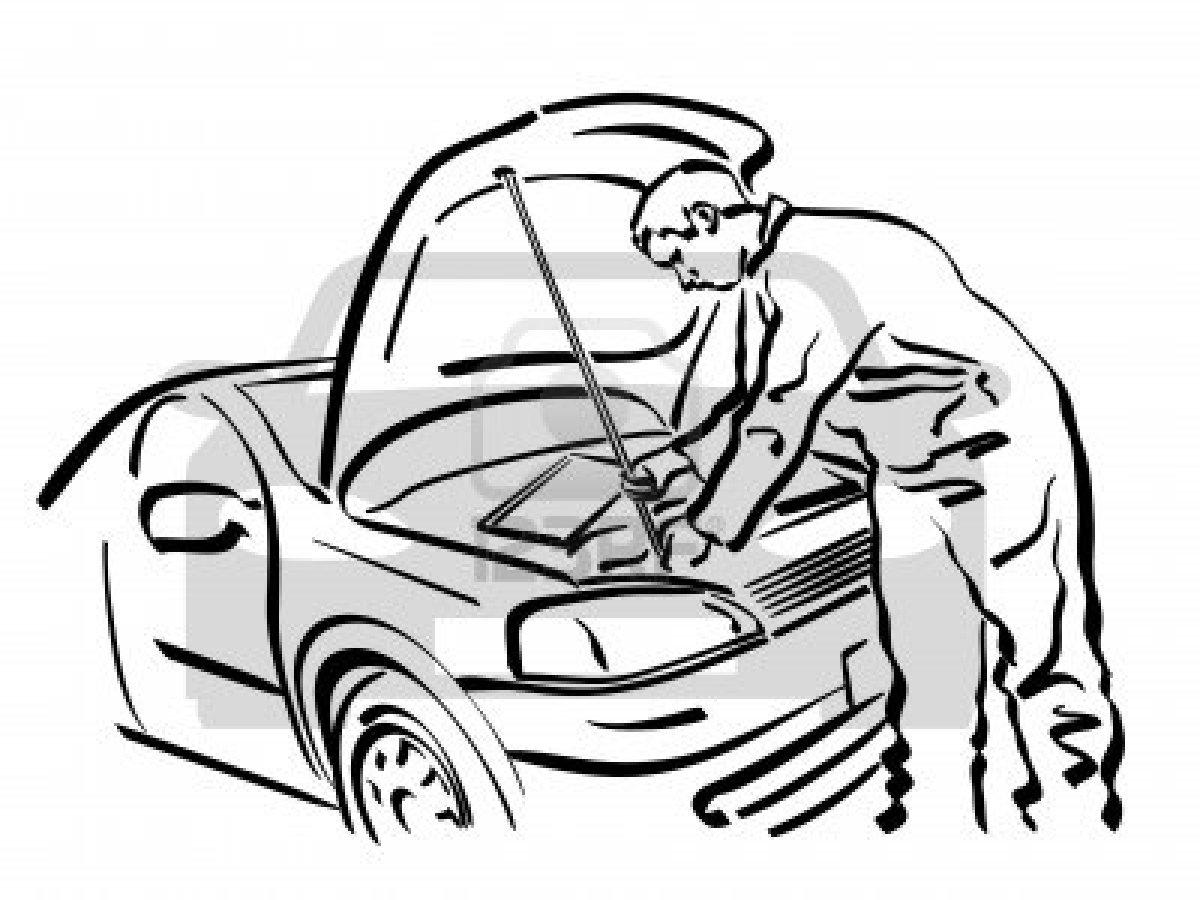 Auto mechanic shop clipart clipart suggest for Mechanic coloring pages