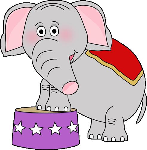 Circus Elephant Clip Art Image Cute Circus Elephant ...