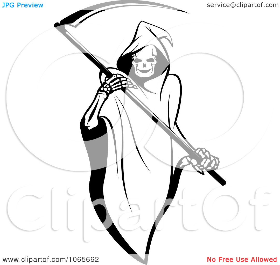 Clipart Grim Reaper 1   Royalty Free Vector Illustration By Seamartini