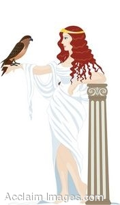Clipart Illustration Of A Greek Woman Holding A Hawk