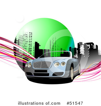 Convertible Car Clipart  51547 By Leonid   Royalty Free  Rf  Stock